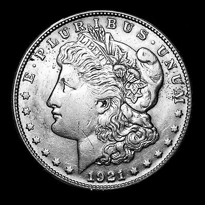1921 S ~**ABOUT UNCIRCULATED AU**~ Silver Morgan Dollar Rare US Old Coin! #546