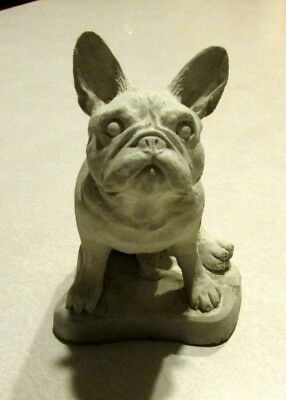 Concrete French Bulldog Statue/ Memorial/ Grave Marker