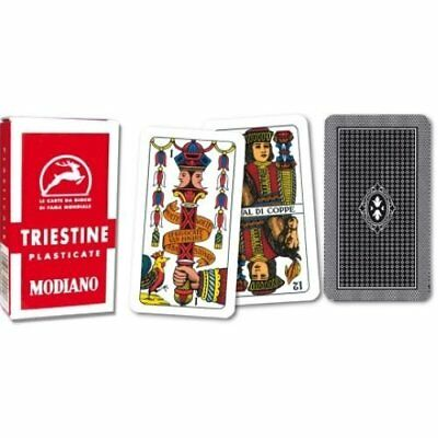 Modiano Triestine Italian Regional Plastic Playing Cards for Scopa and Briscola