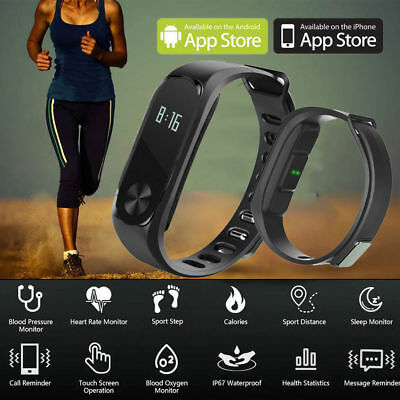 Fitness Sport Smart Watch Heart Rate Fitness Activity Tracker Bracelet Wristband