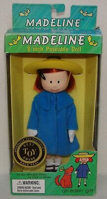 """Madeline 8"""" Doll Curved Hand Green Box w/Gold Seal Best Toy Award NEW!"""