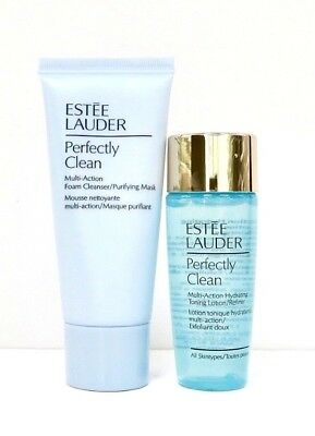 Estee Lauder Perfectly Clean Multi-Action Cleanser/Mask & Toning Lotion 2 x 30ml