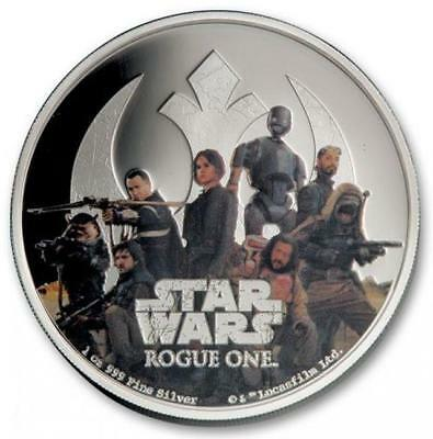 Niue - 2017 1oz Silver $2 Coin - Star Wars Rough One - Rebel Alliance Proof