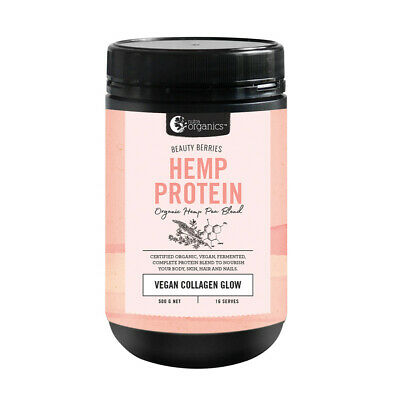NUTRA ORGANICS Hemp Protein Beauty Berries 500g ( Vegan Collagen Glow )