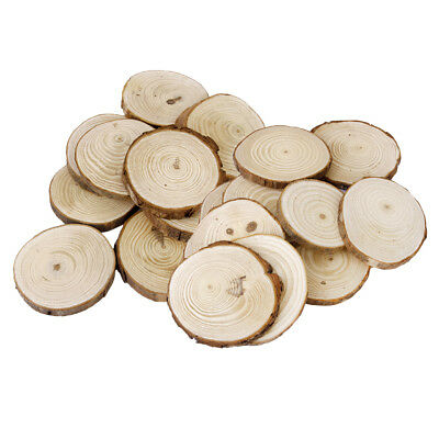 30 Pieces Wood kit Unfinished Wooden Circles for Arts and Crafts 2 Size