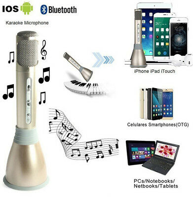 K068 Home KTV Portable Karaoke Microphone Mic Player Bluetooth + Speaker +USB
