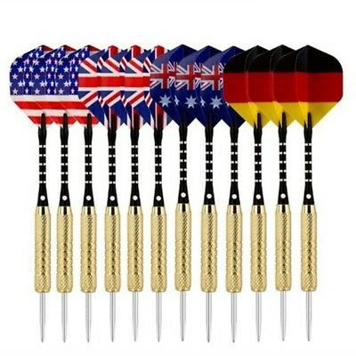 Pro Tungsten Steel Flights Sports Darts with Needle Tip Pop Two Parts