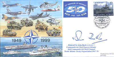 CC61c NATO cover signed Admiral Sir John Bush DSC
