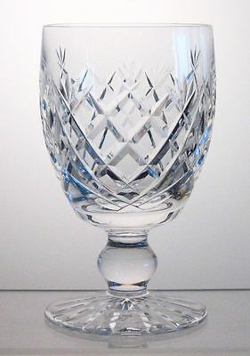 """DONEGAL WATERFORD CRYSTAL Water Goblet/s 5 1/4"""", Signed, Slight Imperfect, Multi"""