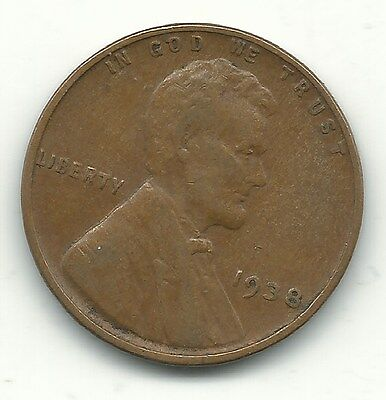 A Extra Fine Condition 1938 P Lincoln Cent-Old Us Coin-Sep190