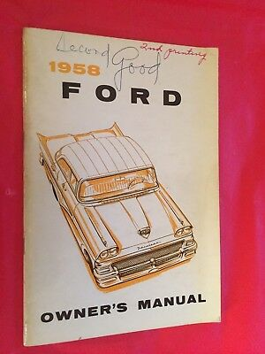 1958 Ford Car Owner's Manual
