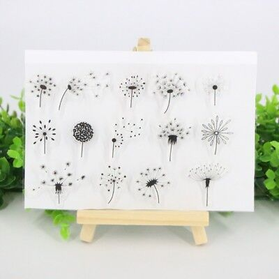 Dandelion Transparent Rubber Silicone Stamp Scrapbooking Embossing Card Making