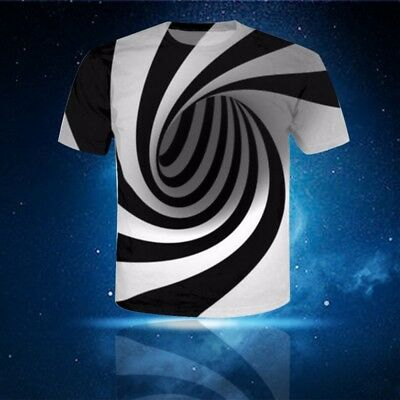 Womens/Mens Hypnosis Funny 3D Print Short sleeve Casual T-Shirt Crew-Neck
