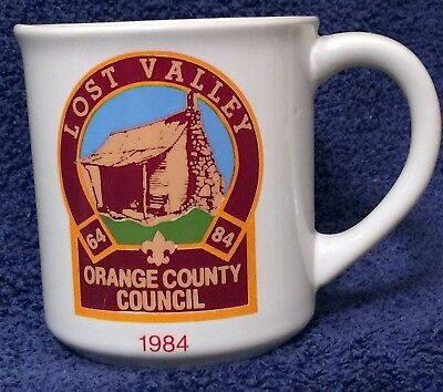 BSA Mug LOST VALLEY - 1984 Thank You - Schoepe Scout Reservation - OCC -