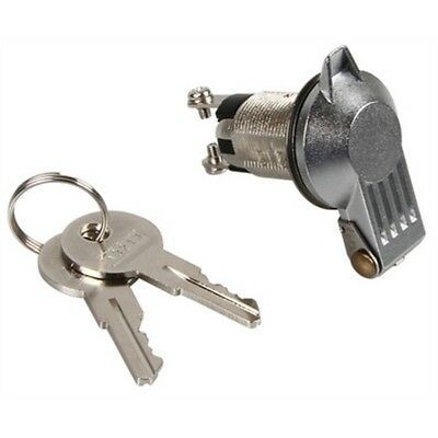 Silver 12v Key Switch With Key Cover - 10a Kill Cut Off Security Immobiliser