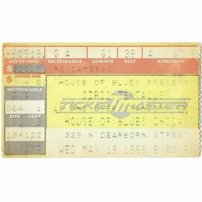 OZRIC TENTACLES Concert Ticket Stub CHICAGO 5/19/99 HOUSE OF BLUES SPLOOSH! Rare