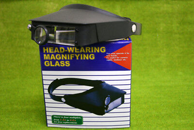 Expo Tools Headband Magnifier with 3 lenses 73840