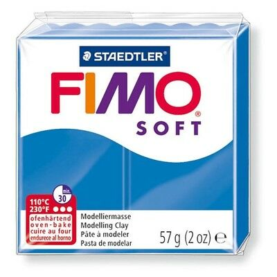 Fimo Soft 57g Pacific Blue - Clay Polymer Modelling 56g Moulding Oven Bake