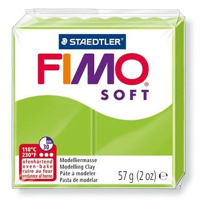 Fimo Soft 57g Apple Green - Clay Modelling Polymer 56g Oven Moulding Bake