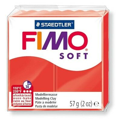 Fimo Soft 57g Indian Red - Clay Polymer Modelling Oven 56g Moulding Staedtler
