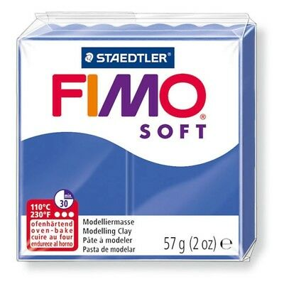 Fimo Soft 57g Brilliant Blue - Clay Polymer Modelling Oven Moulding 56g