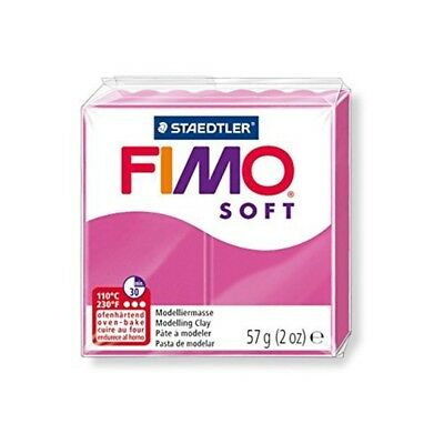 Fimo Soft 57g Raspberry - Clay Modelling Polymer 56g Oven Bake Moulding Colours