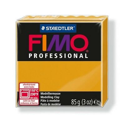 85g Ochre Fimo Modelling Clay - Professional Polymer Oven Bake Moulding Block
