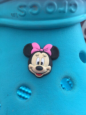 3D Minnie Mouse Shoe Charm For Crocs & Jibbitz Wristbands