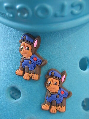 2 Chase Paw Patrol Shoe Charms For Crocs & Jibbitz Wristbands