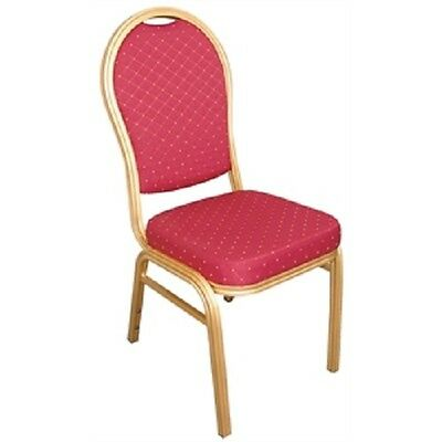 Bolero Aluminium Arched Back Banquet Chairs Red (Pack 4) Conference U525