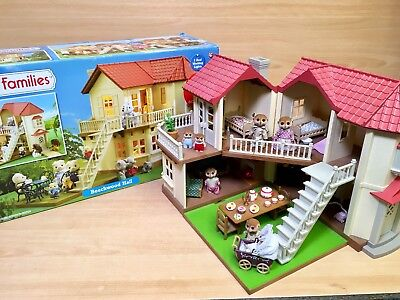 Sylvanian Families Beechwood Hall House Calico Critters Furnished Working Lights