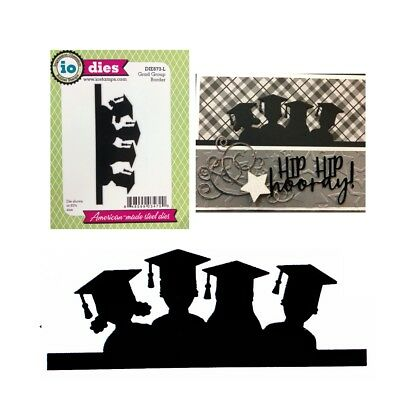 Made in USA Impression Obsession GRADS TOSSING thin metal die graduation