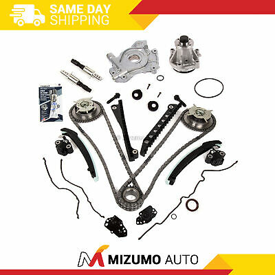 Timing Chain Kit Cam Phaser VCT Selenoid Oil Water Pump Fit 04-10 Ford 5.4L 24V