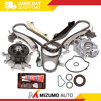 Timing Chain Kit Water Oil Pump w/o Gears Fit 02-10 Chrysler Dodge 3.7 SOHC