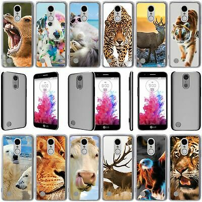 For LG Tribute Dynasty | Rebel 3 | Aristo 2 Slim Fit Clear TPU Case -Animal