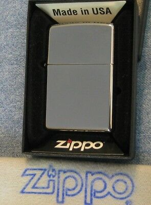 ZIPPO  BASE MODEL Lighter HIGH POLISHED CHROME  Mint In Box 250 NEW
