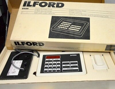 ILFORD DT600 Digital Darkroom Timer/Computer +2 packs of Programmable cards.