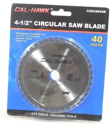 "4-1/2"" X 5/8"" Inch Arbor Carbide Tungsten Circular Saw Blade 40 Tooth"