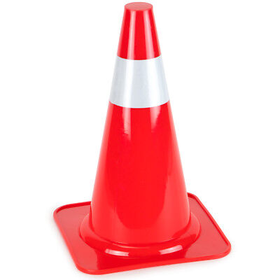 """15"""" High Hat Cones in Orange with Reflective Sleeve for Traffic Safety (Single)"""
