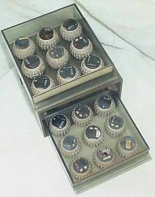 18 Vintage IBM Selectric Type Balls in Holder
