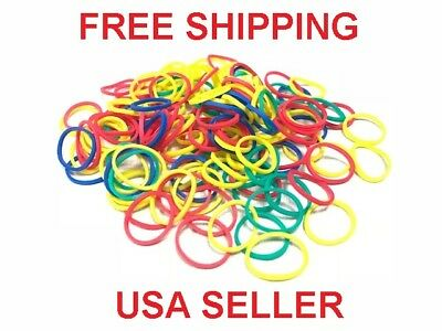 New 500 Small MULTI COLOR MIX Rubber Bands for Hair Crafts Hobbies Pony Office