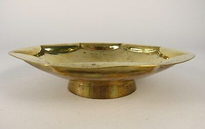 Vintage NMK Alois Worle Munich Germany Arts & Crafts Hammered Brass Bowl