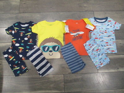 8 piece Lot of Baby Boy Spring/Summer pajamas size 24 months NWT