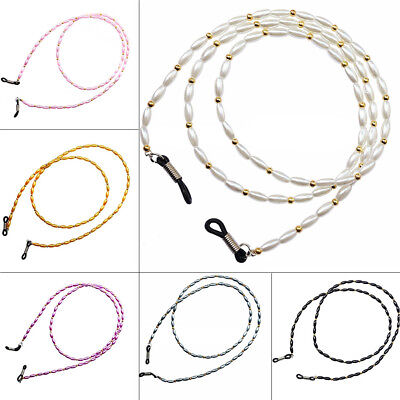 Elegant Pearl Eyeglass Cord Reading Glasses Eyewear Spectacles Chain Holder