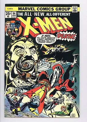 X-Men #94 Vol 1 Near Perfect High Grade 2nd Appearance of the New Team 1975