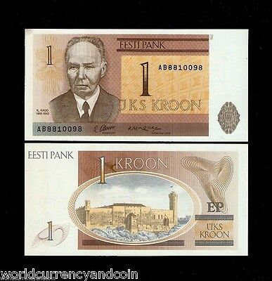 Estonia 1 Krooni P69 1992 *bundle* Euro Hermann Unc First Note Currency 100 Bill