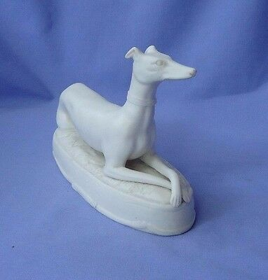 antique Parian Whippet Italian Greyhound dog  6""