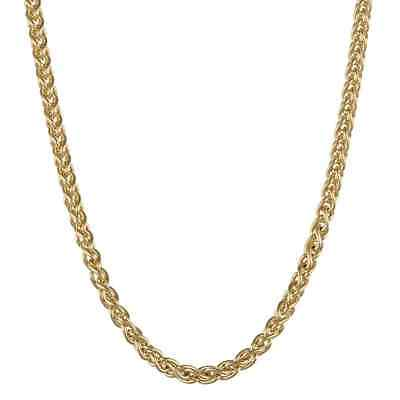14k Gold Overlaid Sterling Silver 18-inch Wheat Chain