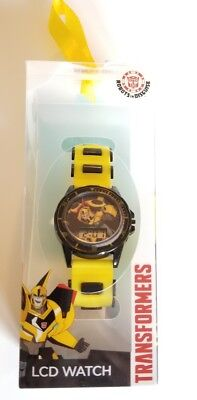 NEW Transformers LCD KIDS ROBOTS IN DISGUISE Watch (NEW) Bumble Bee