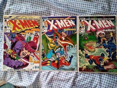X-Men Classics 1,2,3, X-Men 56,57,58,59,60,61,62,63 from 1969, Neal Adams art